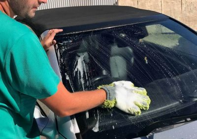 The car washing mitt features hundreds of cloth nipples which ensure the most professional clean of all surfaces including glass
