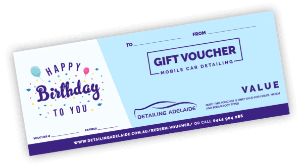Birthday Gift Card by Detailing Adelaide