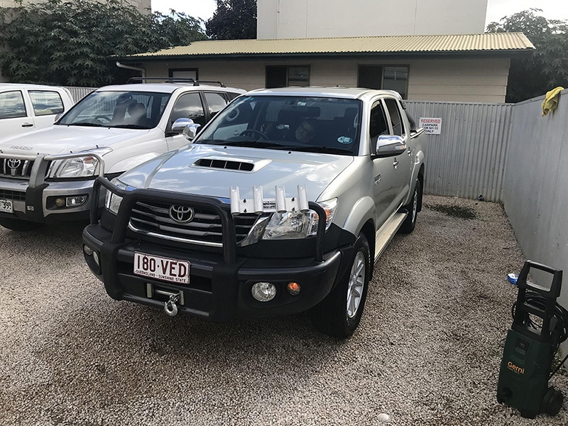 These SUV's  were driven across creeks, rivers, and on the beacon a fishing trip from Qld-  Gallery of cool detailing jobs