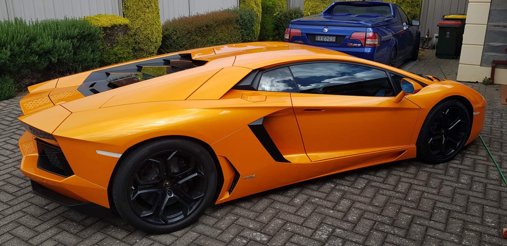 This is one of Detailing Adelaide favourite regular detailing jobs a bright orange fabulous Lamborghini