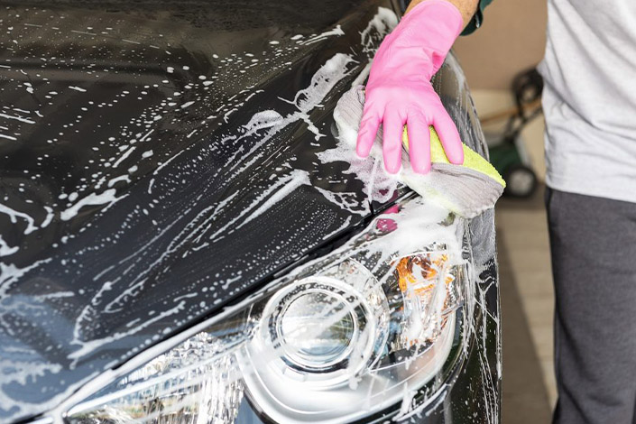 Basic body wash & interior clean